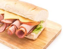 Ham and salad submarine sandwich photo
