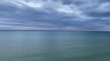 Beautiful seascape with cloudy sky video