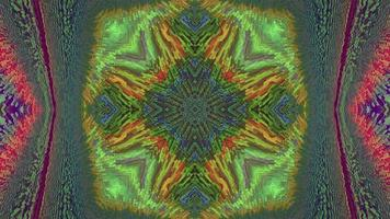 Abstract textured symmetrical multicolored background. video