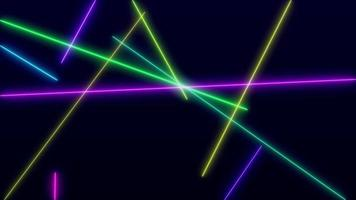 4K video abstract laser show neon background.