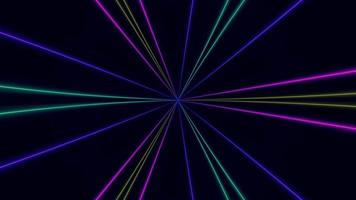 abstraktes Licht Lasershow Neonhintergrund. 4k-Video video