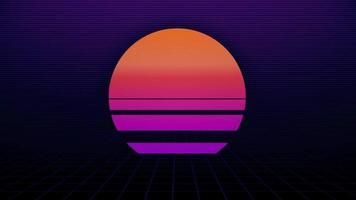 80s Sun Retro Style Background video