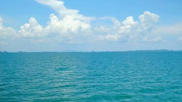 Panoramic views from a tourist transport ship in the sea. video