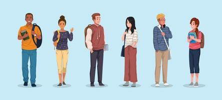 University Student Character Concept Collection vector