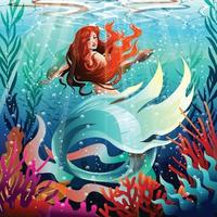 Beautiful Mermaid Concept vector