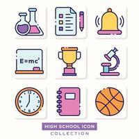 High School Icon Collection vector