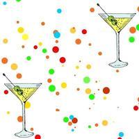 beach party martini vector