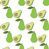 Avocado in color, seamless 2 vector