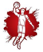 Basketball Player Action vector