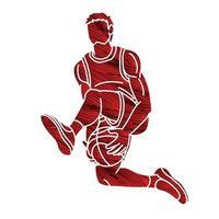 Basketball Player Jumping Action vector