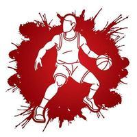 Basketball Player Pose vector