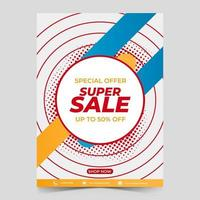 geometric abstract sales poster template design. vector