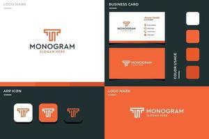 letter T and S monogram logo vector