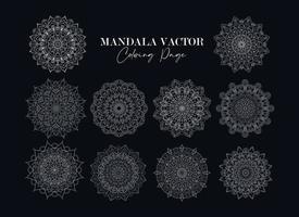 Mandala Collection Vector Free Vector. Circular Flower set Mandala