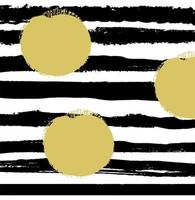 Pattern with black lines and beige dots on white background. vector