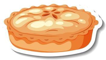 Homemade apple pie on white background vector