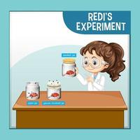 Redi's experiment with scientist kids cartoon character vector