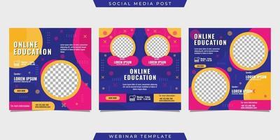 Set of social media stories post template design vector