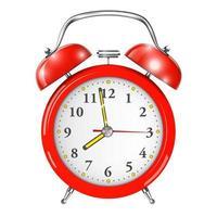 Despertador rojo aislado en blanco. vector