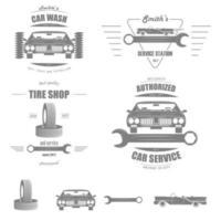 Car Service Vector Badge Set.