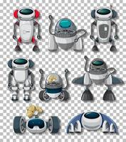 Different robots isolated vector