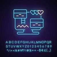 plataforma de videojuego icono de luz de neón vector