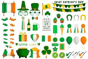 Illustration Irish holiday St Patrick day, gold coins in pot vector