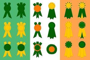 Irish holiday St Patrick day, big set from trophy rewards vector
