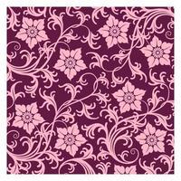 Batik fabric pattern vector
