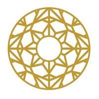 laser cut circle ornament vector