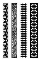border ornament carving vector