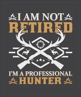 I m not retired vector