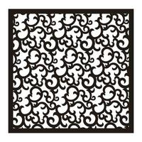 square ornament carving vector