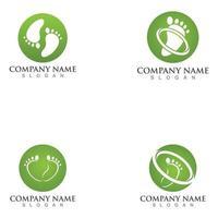 Foot Care Logo Designs Concept Foot Therapy Logo Symbol vector