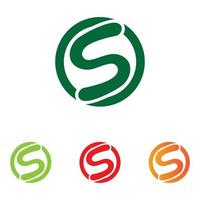 S logo and symbol vector image free