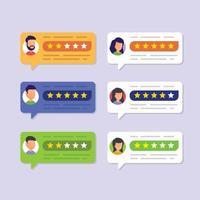 User reviews and feedback concept vector