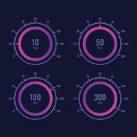 Speedometer internet speed level indicator vector design