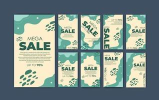set social media template super sale vector