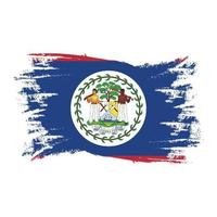 Belize Flag With Watercolor Brush style design vector