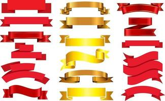 Ribbon Banners antique vector