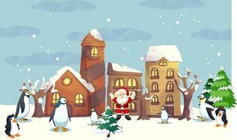 christmas card with snowflake border vector illustration christmas