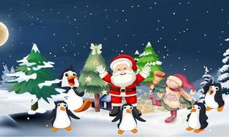 Christmas Clip Art Set of Elements Greeting Season Winter Christmas vector