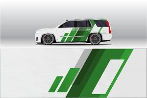 Car wrap decal designs. for racing livery or daily car vinyl sticker. vector