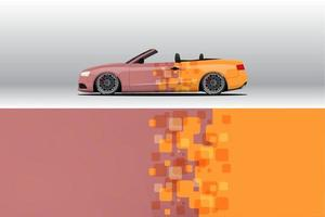 Car wrap decal designs for racing livery or daily car vinyl sticker vector
