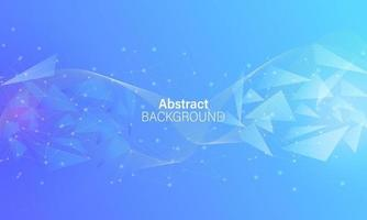 Abstract background vector with triangle light effect elegant color