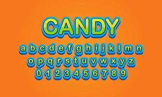 alfabeto de fuente de caramelo vector