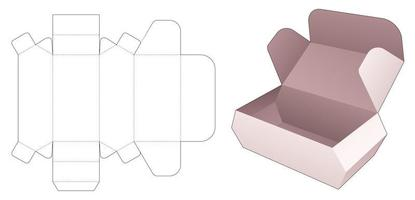 Chamfered flip food box die cut template vector