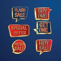 conjunto de diseño de plantilla de banner de venta obtenga una mega venta vector