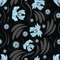 Folk flowers pattern Floral surface design Seamless pattern vector