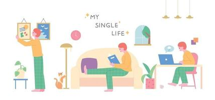 single life character vector